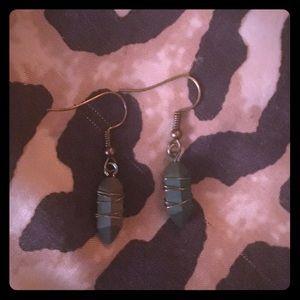 Rainbow Aura Crystal Drop Earrings